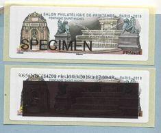 2019 LISA 2 SPECIMEN Salon Philatélique De Printemps à Paris - 2010-... Illustrated Franking Labels