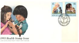 (G 9) New Zealand - FDC - 1993 - Health - FDC