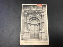 24 - BOURG ARGENTAL Le Portail De L'Eglise, XIe Siecle - 1908 Timbrée - Bourg Argental
