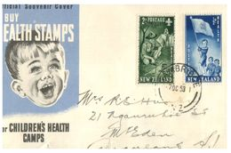 (G 9) New Zealand - FDC - 1953 - Health - FDC