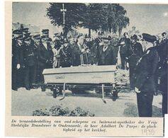 Orig. Knipsel Coupure Tijdschrift Magazine - Oudenaarde - Begrafenis Luitenant Brandweer Adalbert De Paepe - 1939 - Alte Papiere