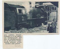 Orig. Knipsel Coupure Tijdschrift Magazine - Oostende - Ongeval Met Trein In Het Station - 1939 - Non Classés