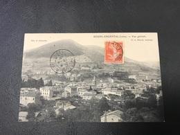 BOURG ARGENTAL Vue Generale - 1909 Timbrée - Bourg Argental