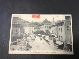 14 - BOURG ARGENTAL Place D'Armeville - 1908 Timbrée - Bourg Argental