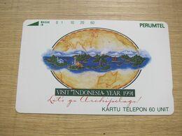 Tamura Phonecard,Visit Indonesia Year 1991,mint - Indonesia