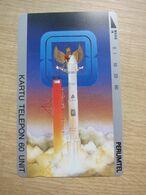 Tamura Phonecard,Perumtel Rocket,mint - Indonesia
