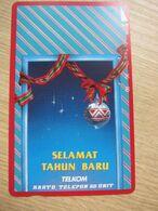 Tamura Phonecard,Christmas,used - Indonesia