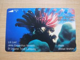 Tamura Phonecard,Coral,used - Indonesia