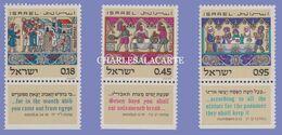 ISRAEL 1972  PASSOVER FESTIVAL  S.G  521-523 U.M. - Israel