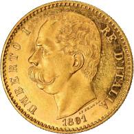 Monnaie, Italie, Umberto I, 50 Lire, 1891, Rome, SUP+, Or, KM:25 - 1861-1946 : Kingdom