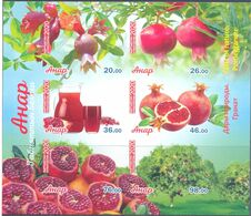 2020. Kyrgyzstan, Pomegranate, S/s Imperforated, Mint/** - Kyrgyzstan