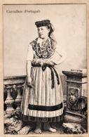 Portu049 CARVALHOS Portugal Ethnic Type De Femme Costume Traditionnel  Armazens HERMINIOS 1910s - Portugal