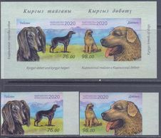 2020. Kyrgyzstan, Kyrgyz Dogs, 2v + S/s Imperforated, Mint/** - Kyrgyzstan