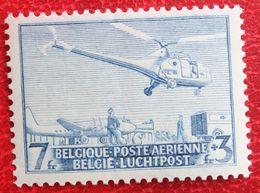Helicopter Sikorsky Luchtpost Poste Aérienne 1950 OBP PA/LP 15 (Mi 873) POSTFRIS MNH ** BELGIE BELGIUM - Airmail