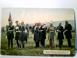 Kaiser Wilhelm II. Im Kaisermanöver 1907. ( Orig. Aufn. V. Franz Tellgmann ). Alte AK Farbig Ungelaufen. Der K - Ohne Zuordnung