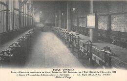 """PARIS  -  Ecole D'Electricité Industrielle """" CHARLIAT """" 53 Rue BELLIARD  -  Atelier Et Forge - Distretto: 18"""