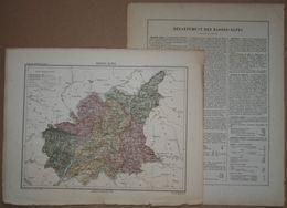 Dpt- 04 Joanne 1870 30x38 BASSES ALPES HAUTE PROVENCE Digne Castellene Barcelonnette Forcalquier Sisteron Volone Arche - Carte Geographique