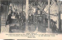 """PARIS  -  Ecole D'Electricité Industrielle """" CHARLIAT """" 53 Rue BELLIARD  -  Machines Outils - Distretto: 18"""