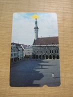 Alcatel Bell Phonecard,Riga Square,used - Estonia