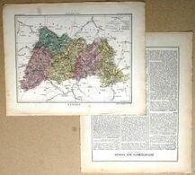 Dpt- 88 Joanne 1870 30x38 VOSGES Epinal Mirecourt Neufchateau Remiremont St Die Plombieres Gerardmer - Carte Geographique