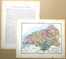 Dpt- 76 Joanne 1870 30x38 SEINE INFERIEURE MARITIME Rouen Le Havre Dieppe Neufchatel Avetot Ste Adresse Fecamp Eu Bolbec - Carte Geographique