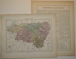 Dpt- 64 Joanne 1870 30x38 BASSES PYRENEES Pau Oloron Orthez Bayonne Mauleon Biarritz Espelette Monein Lescar Sauveterre - Carte Geographique