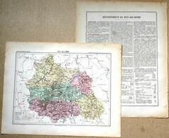 Dpt- 63 Joanne 1870 30x38 Puy De Dome Clermont-Ferrand Ambert Issoire Riom Thiers Bourg-Lastic Chateldon Saint-Amant Viv - Carte Geographique