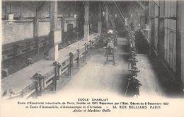 """PARIS  -  Ecole D'Electricité Industrielle """" CHARLIAT """" 53 Rue BELLIARD  -  Atelier Et Machine Outils - Distretto: 18"""