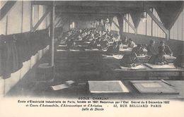 """PARIS  -  Ecole D'Electricité Industrielle """" CHARLIAT """" 53 Rue BELLIARD  -  Salle De Dessin - Distretto: 18"""