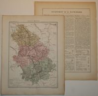 Dpt- 52 Joanne 1870 30x38 HAUTE-MARNE Chaumont Langres Dizier Auberive Vassy Château-Villain Doulaincourt Longeau Montig - Carte Geographique