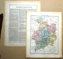 Dpt- 35 Joanne 1870 30x38 ILE Et VILAINE Rennes Redon Saint Malo Brieux Servan Dol Montfort Sur Meu Fougeres Vitre - Carte Geographique