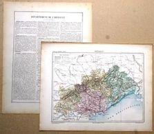 Dpt- 34 Joanne 1870 30x38 HERAULT Montpellier Beziers Lodeve St Pons Cette Agde Chinian Pezenas Sete - Carte Geographique