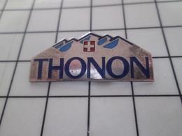 918B Pin's Pins / Beau Et Rare / THEME : BOISSONS / EAU MINERALE THONON - Beverages