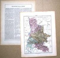 Dpt- 26 Joanne 1870 30x38 DROME Valence Die Montelimar Nyons Romans Grignan St Donat Chabeuil Marsanne - Carte Geographique