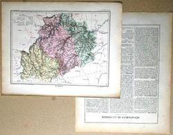 Dpt- 19 Joanne 1870 30x38 CORREZE Tulle Brive Ussel Argentat Meyssac Bugeat Meymac Uzerche Egleton - Carte Geographique