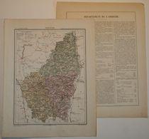 Dpt- 07Joanne 1870 30x38 ARDECHE Privas Tournon Largentiere Annonay Aubenas Joyeuse Vallon Chomerac Antraigues Lavoulte - Carte Geographique