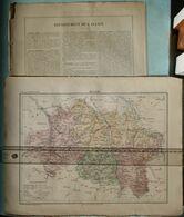 Dpt 03 Joanne 1870 30x38 ALLIER Moulins Montlucon Gannat Palisse Escurolles Mayet Dompierre Chevagnes Archambault Hurie - Carte Geographique