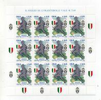 ITALIA - 2005 - Foglietto  - Juventus Campione D'Italia  - 12 Valori - Nuovo ** - (FDC23139) - Blocchi & Foglietti