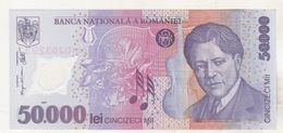 Romania 50000 Lei 2001 ( 2002 ) Banknote , Uncirculated - Plastic - P113a - Roemenië