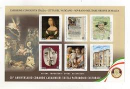 ITALIA - 2019 - Foglietto  - 50° Anniversario Comando Carabinieri Tutela Patrimonio Culturale - Nuovo ** - (FDC23140) - Blocchi & Foglietti