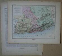 Dpt- Joanne 1870 Plan 30x38 Colonies ALGERIE Alger Constantine Oran Sahara Tougourt Laghouat Bone Mostaganem Dellis - Mappe