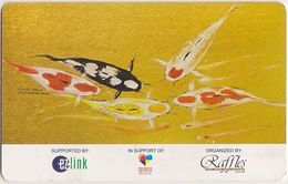 Singapore Travel Transport Card Subway Train Bus Ticket Ezlink Used Fish Carp - Metro