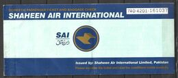 PAKISTAN DOMESTIC PASSENGER AIR TICKET SHAHEEN INTERNATIONAL AIRLINE - Tickets