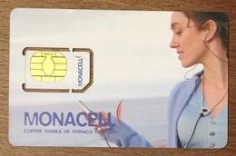 MONACO MONACELL FEMME CARTE SIM NEUVE PHONE CARD CARTELA TÉLÉCARTE - Monace