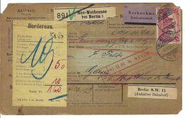 ALLEMAGNE 1904: Bulletin D'Expédition Contre-Remboursement De Neu-Weissensee Pour Genève, Affranchi à 1,25 Mk. - Germany