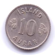 ICELAND 1967: 10 Aurar, KM 10 - Islanda