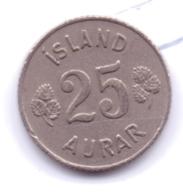 ICELAND 1961: 25 Aurar, KM 11 - Islanda