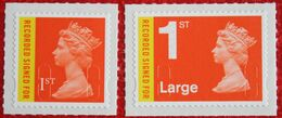 Machin QE II 1st & Large Recorded Signed (Mi 2839-2840) 2009 POSTFRIS MNH ** ENGLAND GRANDE-BRETAGNE GB GREAT BRITAIN - Nuovi