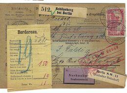 ALLEMAGNE 1904: Bulletin D'Expédition Contre-Remboursement De Schöneberg Pour Genève, Affranchi à 1,30 Mk. - Germany