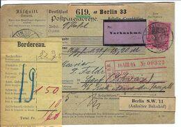 ALLEMAGNE 1903: Bulletin D'Expédition Contre-Remboursement De Berlin Pour Genève, Affranchi à 1 Mk. - Germany